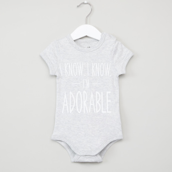 Juniors Printed Round Neck Bodysuit