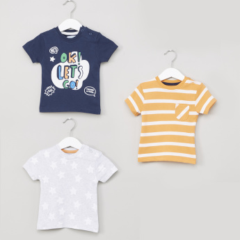 Juniors Printed Short Sleeves T-Shirt - Set of 3