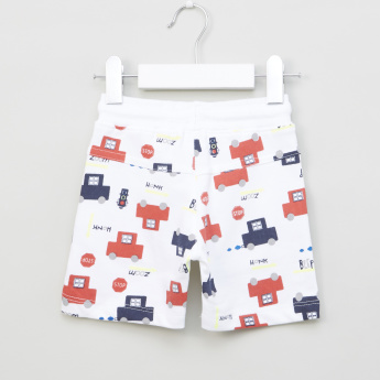Juniors Printed Shorts with Drawstring Closure - Set of 2