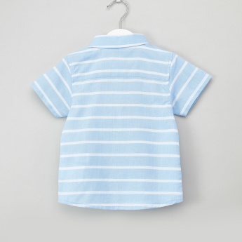 Juniors Striped Shirt with Shorts