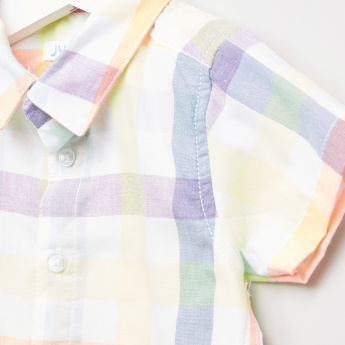 Juniors Chequered Short Sleeves Shirt