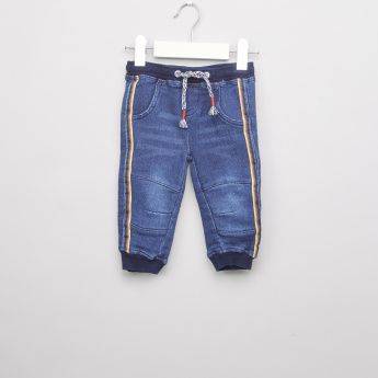 Juniors Denim Jog Pants with Drawstring