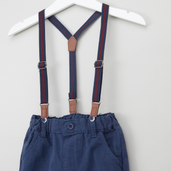 Juniors Full Length Pants with Suspenders
