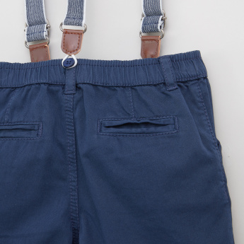 Juniors Suspender Shorts with Side Pockets