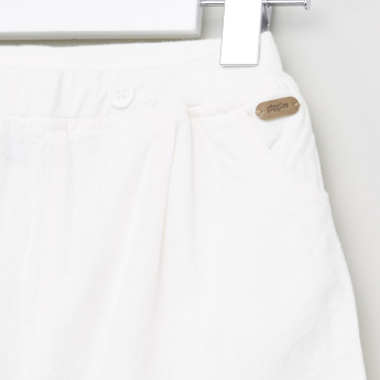 Plain Woven Shorts with Elasticated Waistband