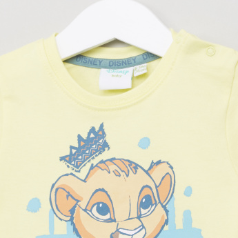 The Lion King Printed T-Shirt with Shorts