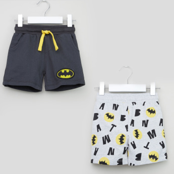 Warner Bros Batman Printed Drawstring Shorts - Set of 2