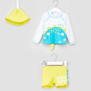 Juniors Printed 3-Piece Swim Set