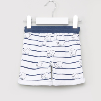 Carte Blanche Printed Shorts with Drawstring Closure
