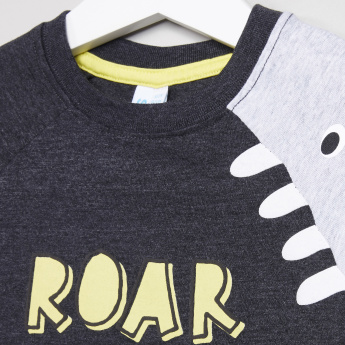 Juniors Printed Raglan Sleeves T-Shirt