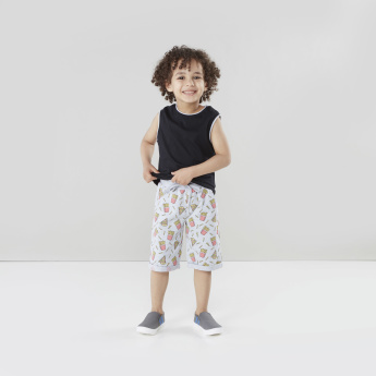 Juniors Printed Knit Shorts with Pockets