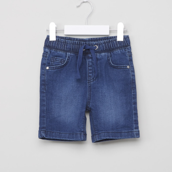 Juniors Pocket Detail Shorts with Drawstring