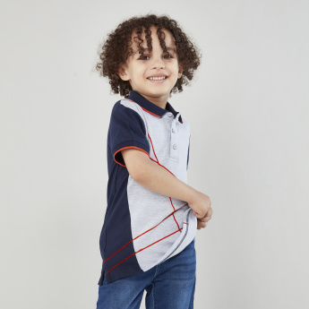 Juniors Tipping Detail Polo Neck Short Sleeves T-shirt