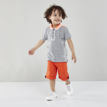Juniors Pocket Detail Shorts with Rolled Up Hem