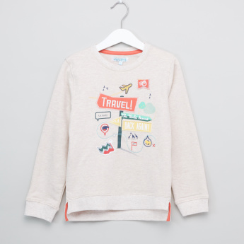 Juniors Applique Embroidered Long Sleeves Pullover