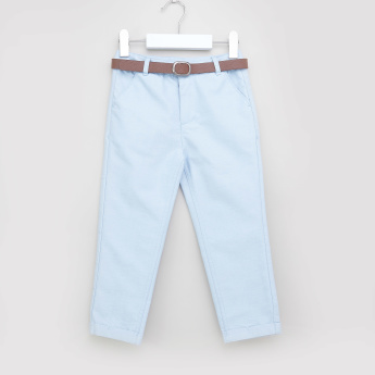 Juniors Flat-Front Cotton Shorts with Belt