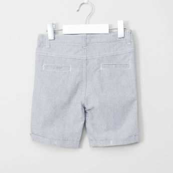 Juniors Short Sleeves Shirt with Stitch Detail Shorts
