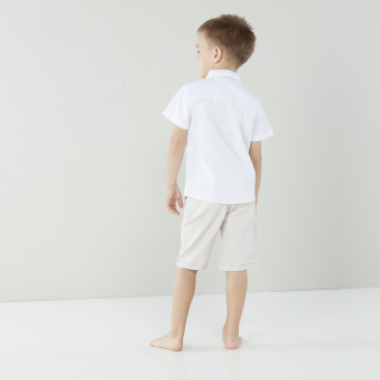 Juniors Pocket Detail Shirt with Shorts