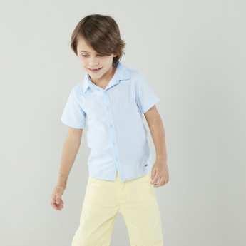 Eligo Solid Shirt with Short Sleeves and Complete Placket