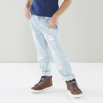 Lee Cooper Distressed Jeans with Side Pockets