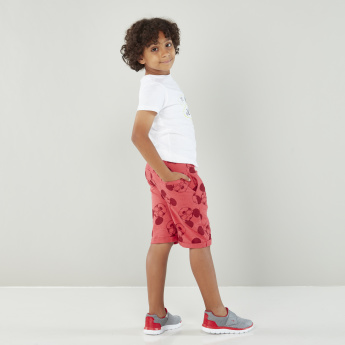Mickey Mouse Printed Cotton Shorts with Tie-up Closure