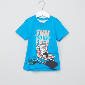 Tom and Jerry Printed Short Sleeves T-Shirt