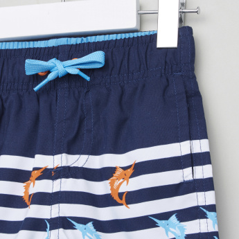 Juniors Printed Swimming Shorts with Elasticated Drawstring
