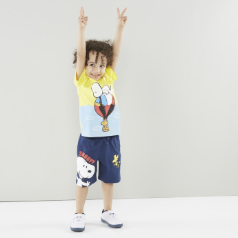 Snoopy Printed Shorts with Elasticised Waistband