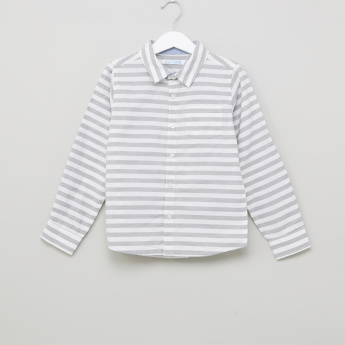 Juniors Striped Long Sleeves Shirt