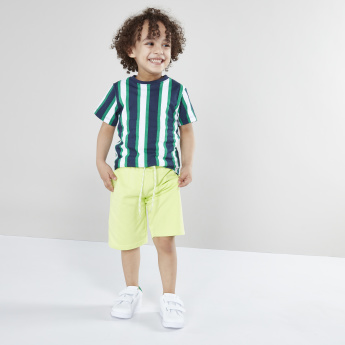 Juniors Pocket Detail Knitted Shorts with Drawstring