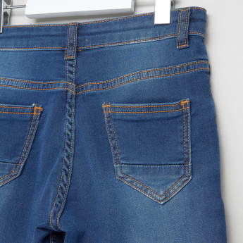 Juniors Wash Style Shorts with Pocket Detail