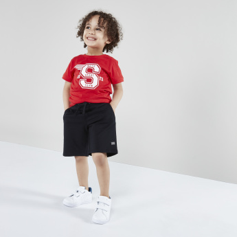 Juniors Printed Short Sleeves T-Shirt with Shorts
