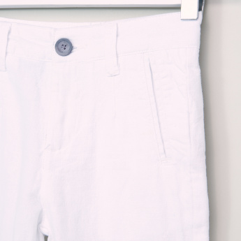 Eligo Pocket Detail Shorts with Button Closure