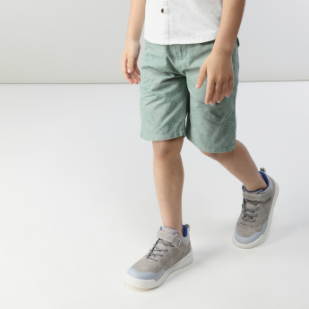 Eligo Textured Shirt with Printed Shorts