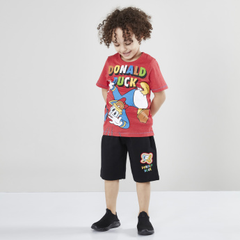 Donal Duck Graphic Printed Round Neck Short Sleeves T-Shirt