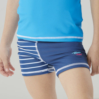 Juniors Striped Swim Trunks with Elasticised Waistband