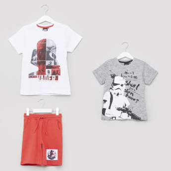 Star Wars Printed 2-Piece T-Shirt and Shorts Set