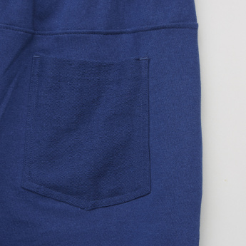 Posh Pocket Detail Knitted Shorts with Drawstring