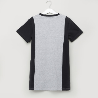 Posh Printed T-shirt with Crew Neck and Short Sleeves