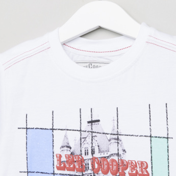 Lee Cooper Graphic Printed Round Neck Short Sleeves T-Shirt