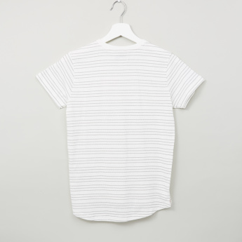 Lee Cooper Striped Printed T-shirt with Short Sleeves