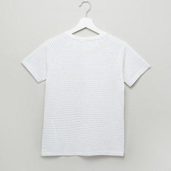 Lee Cooper Striped Henley Neck T-Shirt