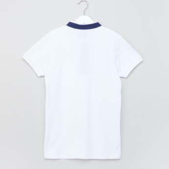 Lee Cooper Logo Detail Henley Neck T-Shirt