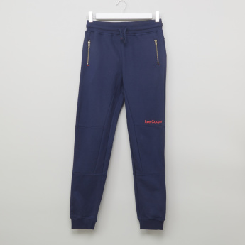 Lee Cooper Zip and Pocket Detail Jog Pants with Elasticised Waistband