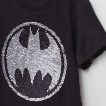 Batman Sequin Detail Short Sleeves T-Shirt