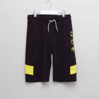 Batman Applique Detail Shorts with Drawstring
