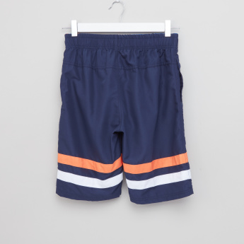 Posh Pocket Detail Swim Shorts with Elasticised Waistband