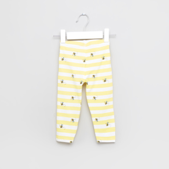 Juniors Bee Printed Leggings - Set of 2