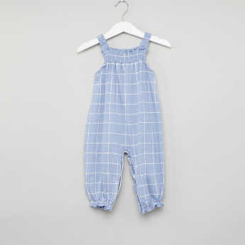 Juniors Chequered Sleeveless Romper