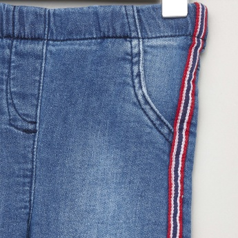 Juniors Side Tape Detail Jeans with Pocket Detail